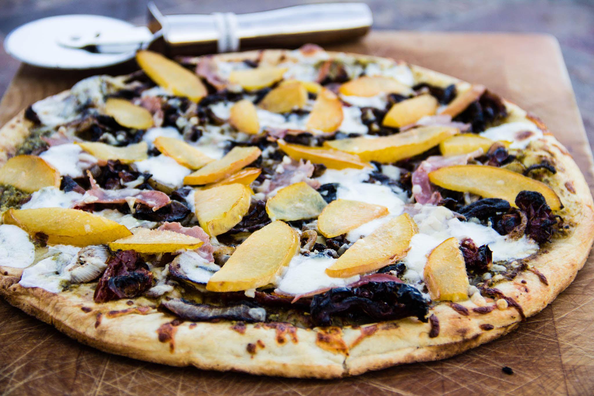 Summeripe Grilled Plum Pizza